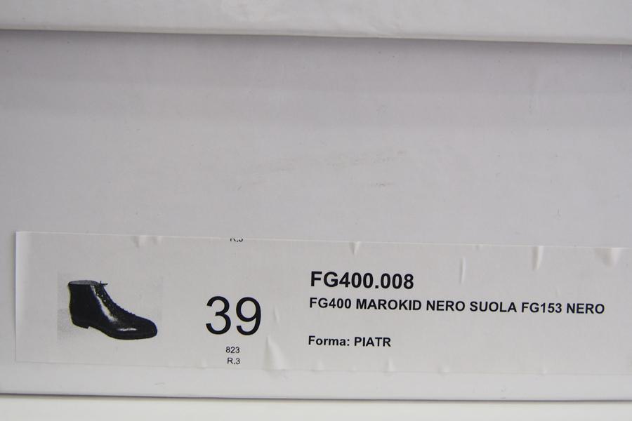 ジャコメッティ|F.lli Giacometti|グレインレザーレースアップブーツ|39|ブラック|FG400 MAROKID NERO SUOLA FG153 NERO|イメージ09