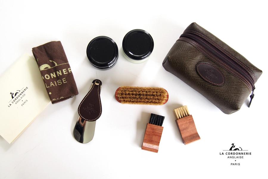 コルドヌリ・アングレース LA CORDONNERIE ANGLAISE 靴磨きセット シューケアポーチセット イメージ01
