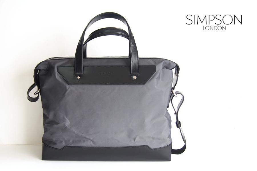 シンプソンロンドン|SIMPSON LONDON|ナイロン×ブライドルレザーブリーフバッグイメージ01