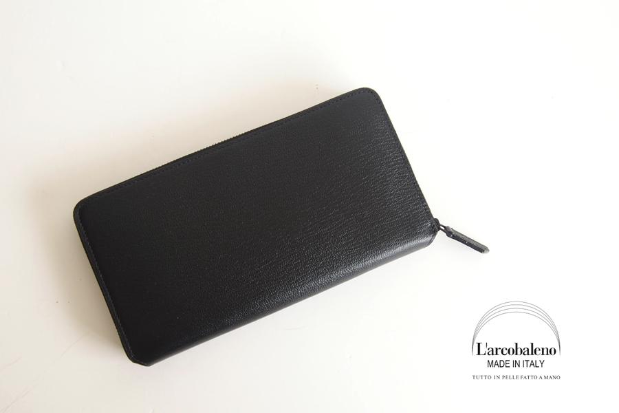 ラルコバレーノ|L'arcobaleno|小銭入れ付きラウンドジップ長財布|ブラック×グレージュ|イメージ02