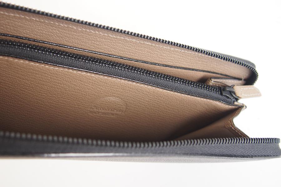 ラルコバレーノ|L'arcobaleno|小銭入れ付きラウンドジップ長財布|ブラック×グレージュ|イメージ09