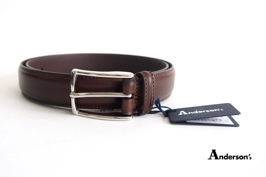 アンダーソンズ|Anderson's|3センチ幅 カーフドレスベルト|90|ブラウンイメージ01