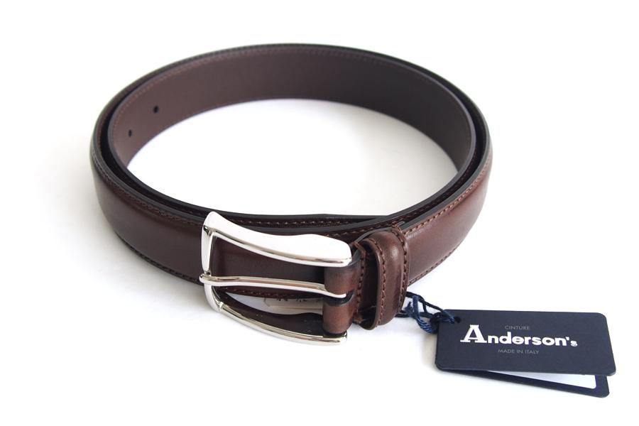 アンダーソンズ|Anderson's|3センチ幅 カーフドレスベルト|90|ブラウンイメージ02