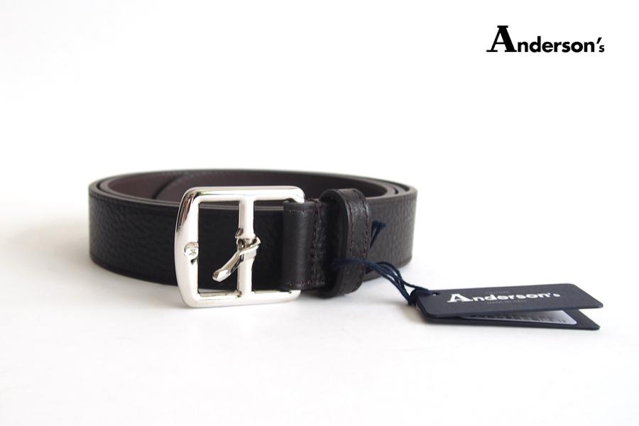 アンダーソンズ|Anderson's|グレインレザー ベルト|90|ブラウン|イメージ01