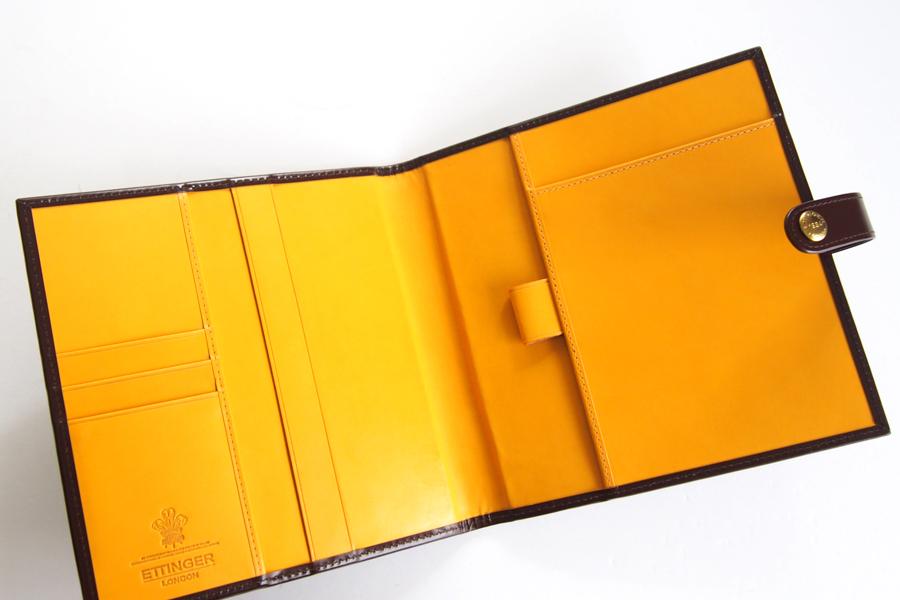 エッティンガー|ETTINGER|クオバディス用ブライドルレザー手帳カバー|ブラウン|イメージ06