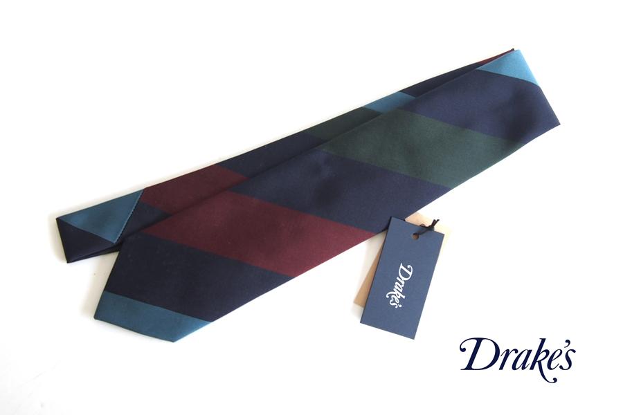 ドレイクス Drake's 4カラーレジメンタルシルクネクタイ イメージ01