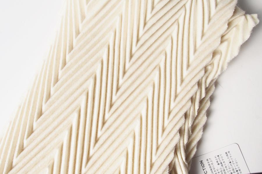 アルテ|Arte|プリーツ加工ソリッドカシミアストール|マフラー|DALI|ホワイト|イメージ02
