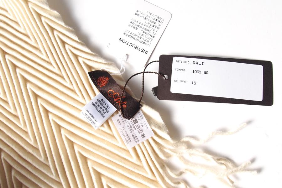 アルテ|Arte|プリーツ加工ソリッドカシミアストール|マフラー|DALI|ホワイト|イメージ04