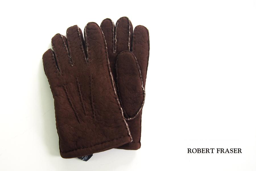 ロバートフレイザー|Robert Fraser|スエード手袋|グローブ|ブラウン|イメージ01