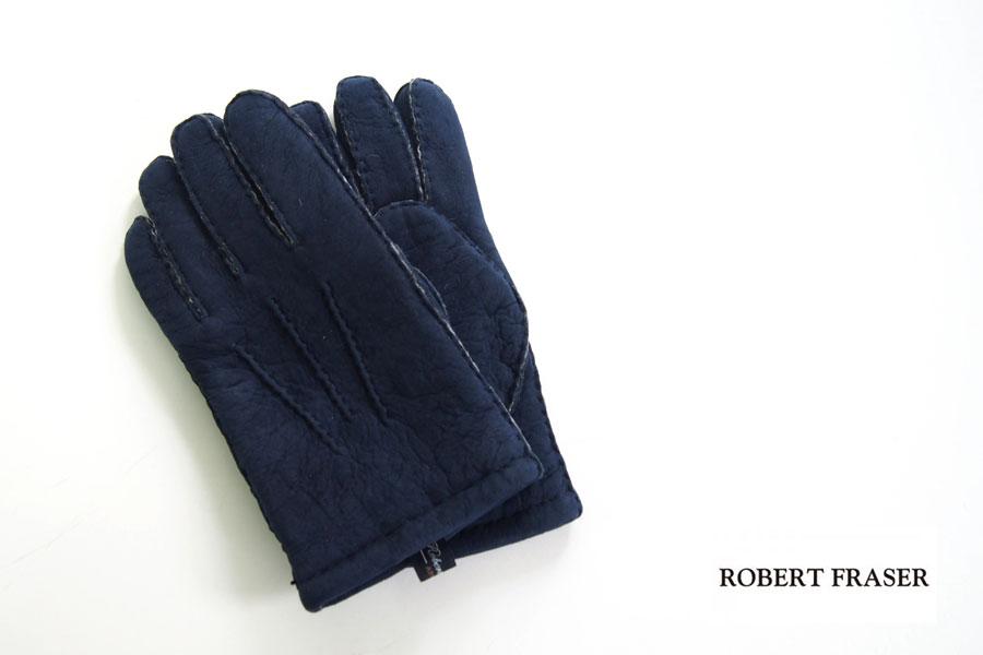 ロバートフレイザー|Robert Fraser|スエード手袋|グローブ|ネイビー|イメージ01