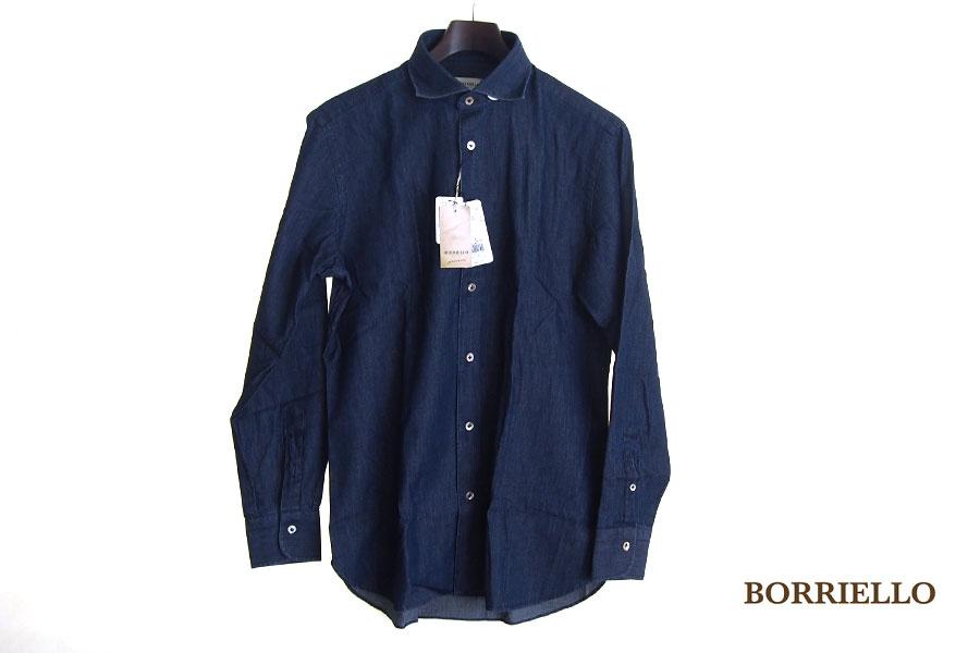 ボリエッロ|BORRIELLO|セミワイドカラー長袖シャツ|39イメージ01