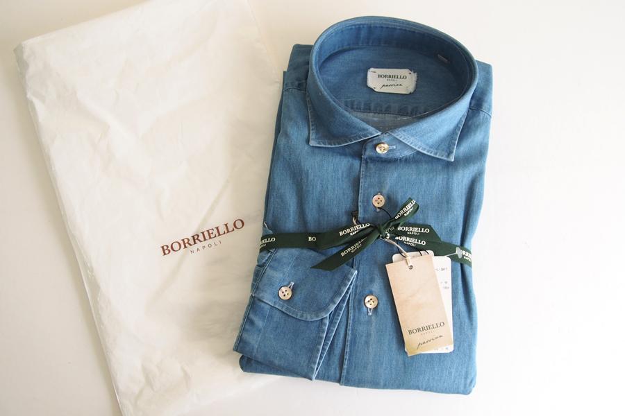 ボリエッロ|BORRIELLO|セミワイドカラー長袖シャツ|41|イメージ04