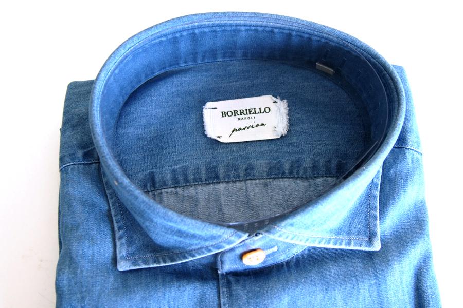ボリエッロ|BORRIELLO|セミワイドカラー長袖シャツ|41|イメージ06