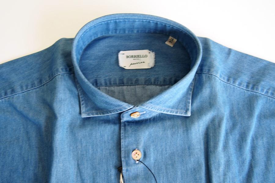ボリエッロ|BORRIELLO|セミワイドカラー長袖シャツ|41|イメージ08