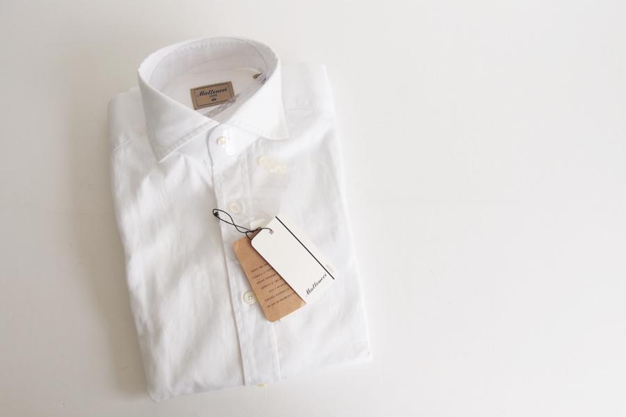 マテウッチ|Matteucci|コットンシャツ|37|ホワイト|イメージ04