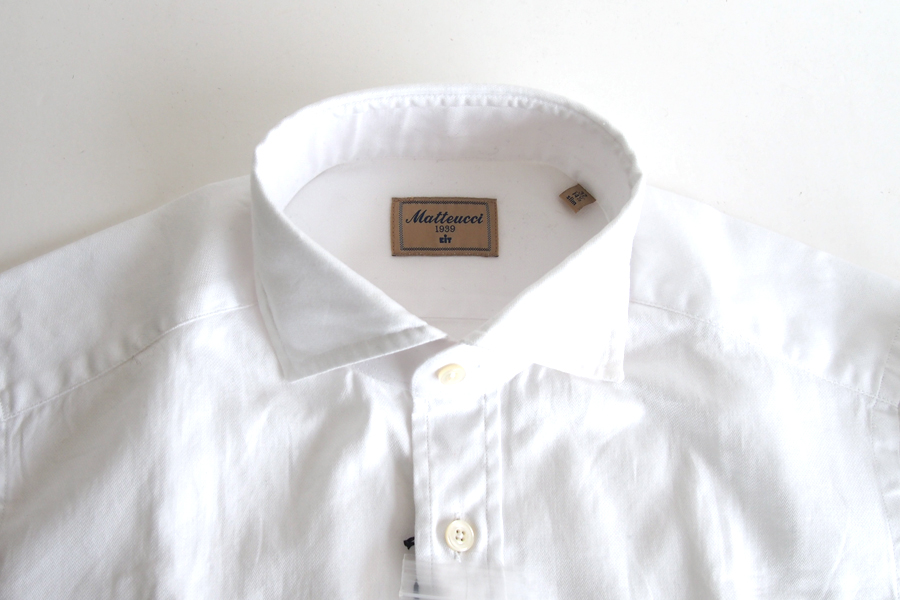 マテウッチ|Matteucci|コットンシャツ|37|ホワイト|イメージ08