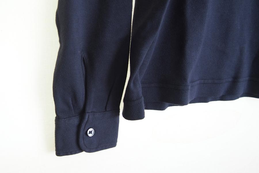 ザノーネ ZANONE ピマコットンロングスリーブポロシャツ 46 ネイビーイメージ07