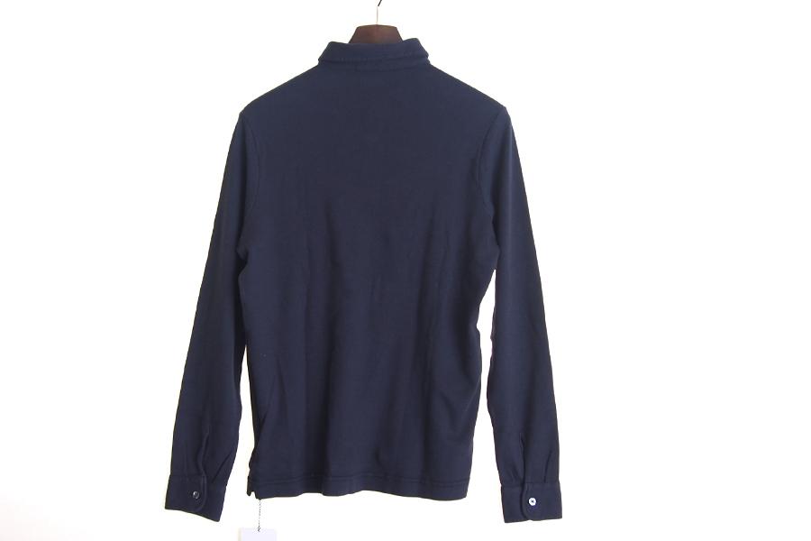 ザノーネ ZANONE ピマコットンロングスリーブポロシャツ 46 ネイビーイメージ08