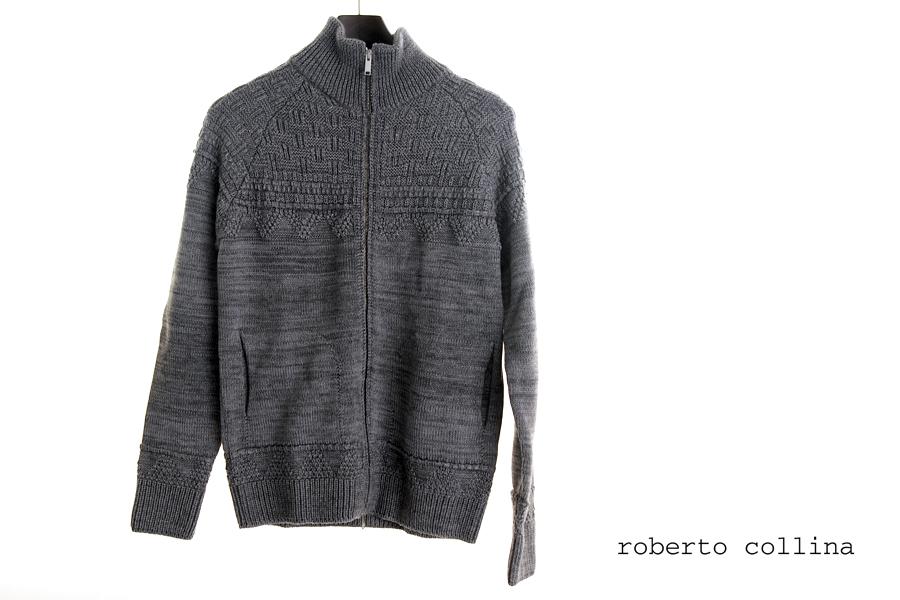 ロベルト コリーナ|roberto collina|ローゲージジップアップカーディガン|46|イメージ01