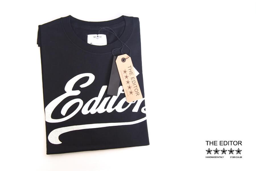 エディター|THE EDITOR|ロゴプリントTシャツ|M|ブラックイメージ01
