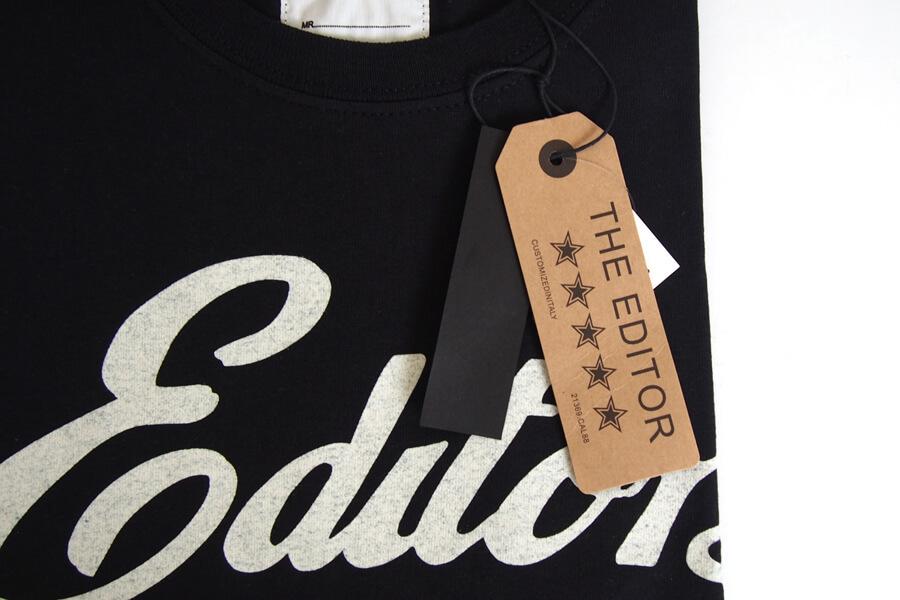 エディター|THE EDITOR|ロゴプリントTシャツ|M|ブラックイメージ02