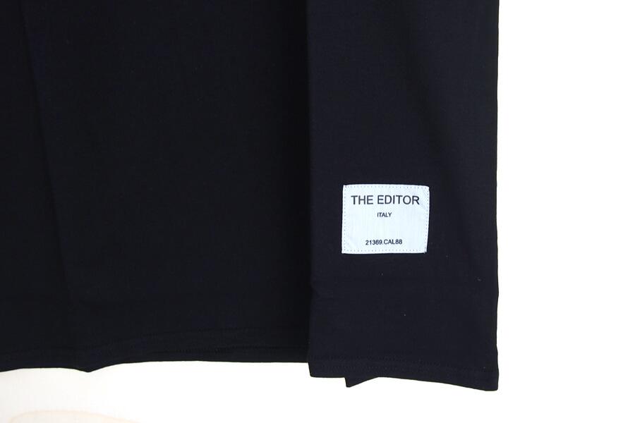 エディター|THE EDITOR|ロゴプリントTシャツ|M|ブラックイメージ06