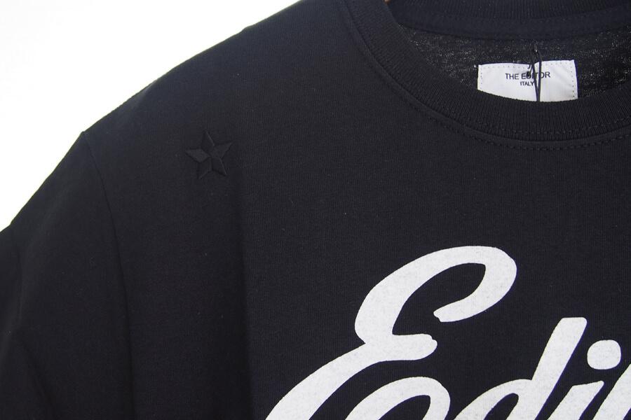 エディター|THE EDITOR|ロゴプリントTシャツ|M|ブラックイメージ07