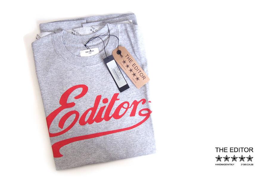 エディター|THE EDITOR|ロゴプリントTシャツ|M|グレイイメージ01