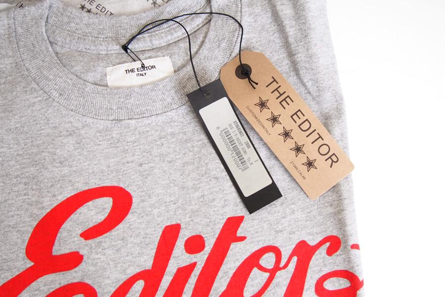 エディター|THE EDITOR|ロゴプリントTシャツ|M|グレイイメージ02
