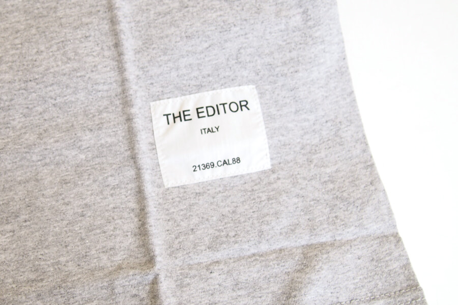 エディター|THE EDITOR|ロゴプリントTシャツ|M|グレイイメージ03