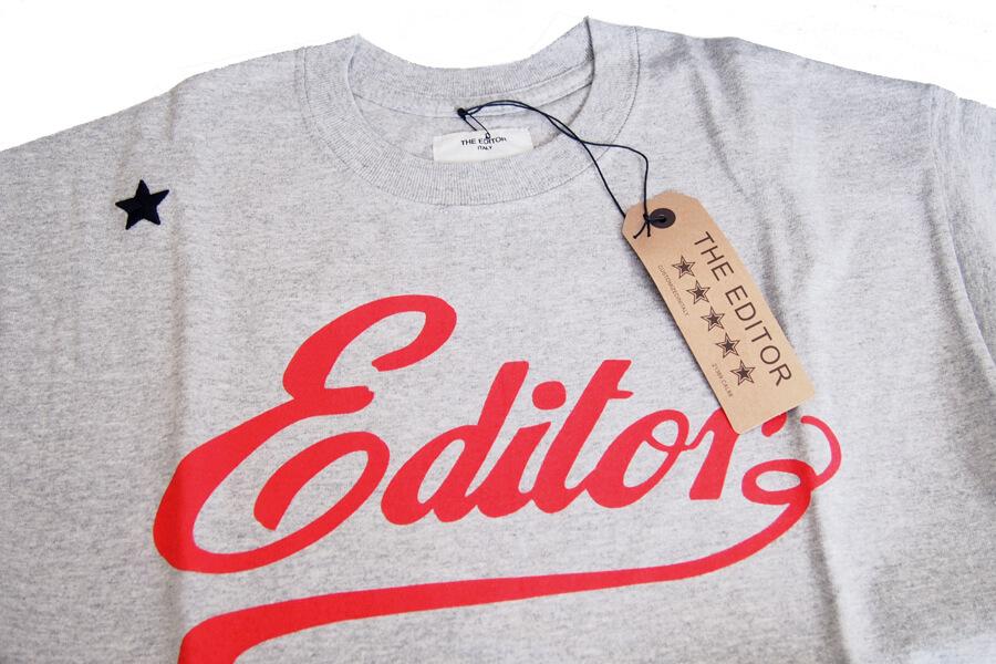 エディター|THE EDITOR|ロゴプリントTシャツ|M|グレイイメージ04