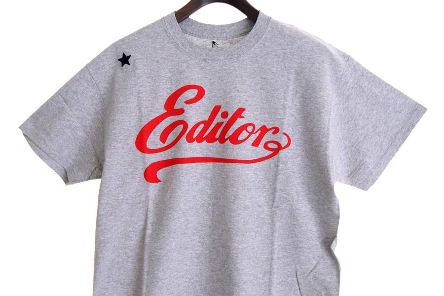 エディター|THE EDITOR|ロゴプリントTシャツ|M|グレイイメージ06