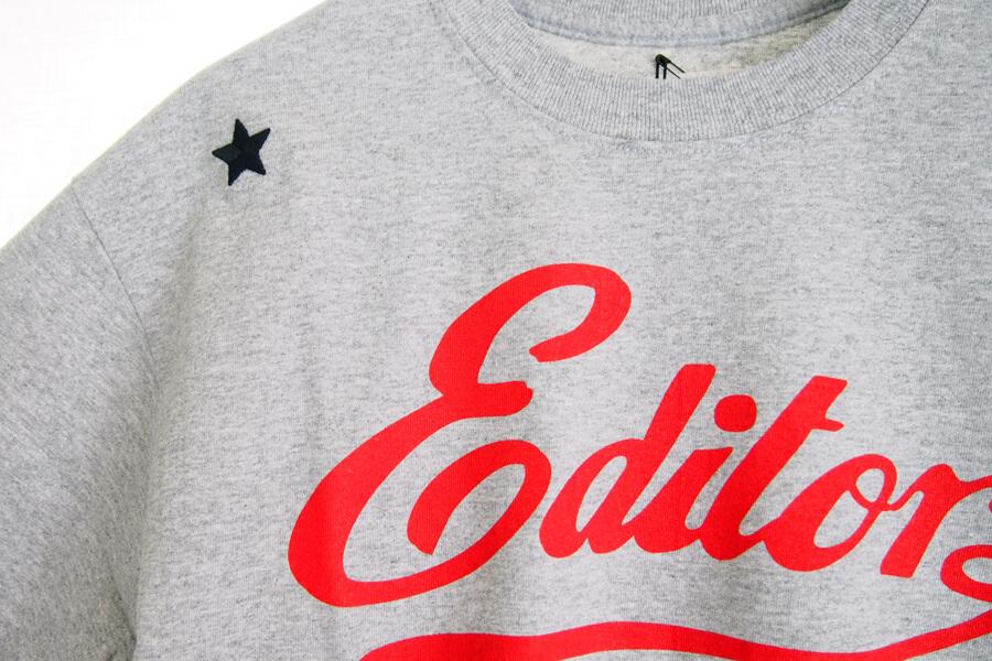 エディター|THE EDITOR|ロゴプリントTシャツ|M|グレイイメージ07
