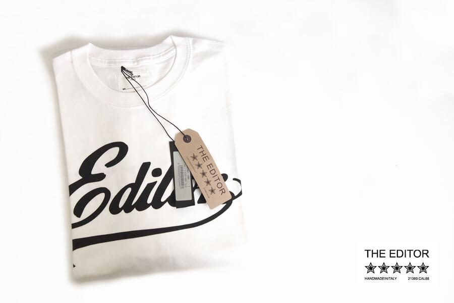 エディター|THE EDITOR|ロゴプリントTシャツ|M|ホワイトイメージ01
