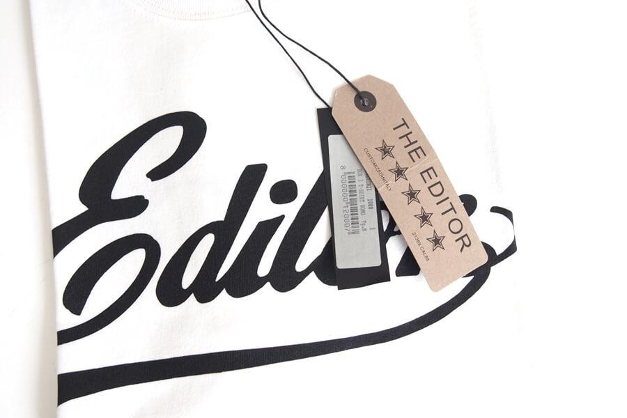 エディター|THE EDITOR|ロゴプリントTシャツ|M|ホワイトイメージ02