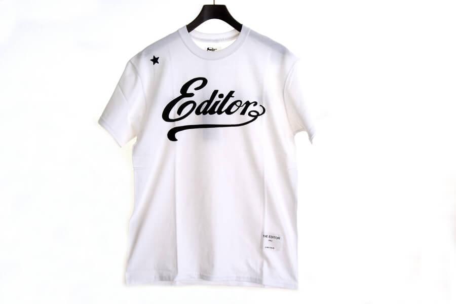 エディター|THE EDITOR|ロゴプリントTシャツ|M|ホワイトイメージ04