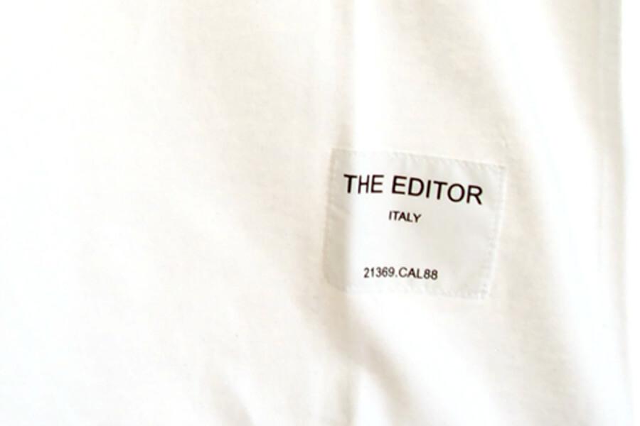 エディター|THE EDITOR|ロゴプリントTシャツ|M|ホワイトイメージ06