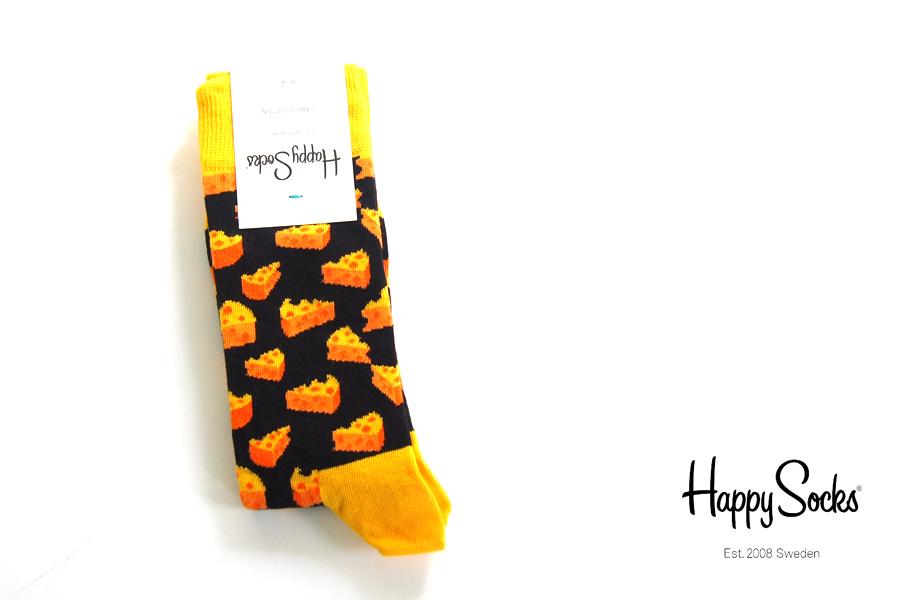 ハッピーソックス|happy socks|クルー丈カジュアルソックス|チーズ柄|Cheese Sock|10113006イメージ01