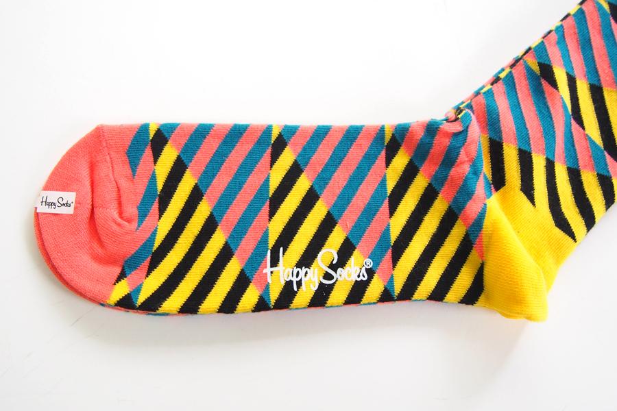 ハッピーソックス happy socks クルー丈カジュアルソックス ダイアゴナルストライプソックス DIAGONAL STRIPE 10113009イメージ03