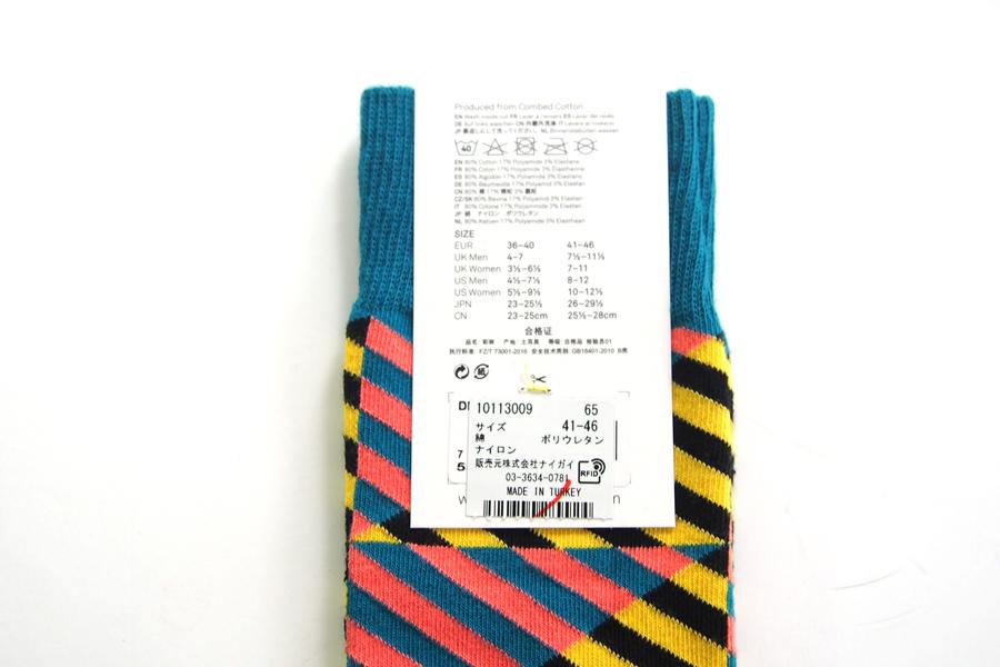 ハッピーソックス happy socks クルー丈カジュアルソックス ダイアゴナルストライプソックス DIAGONAL STRIPE 10113009イメージ04