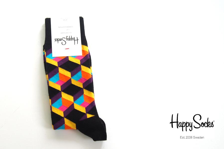 ハッピーソックス|happy socks|クルー丈カジュアルソックス|オプティックスクエア|OPTIC SQURE|10113023イメージ01