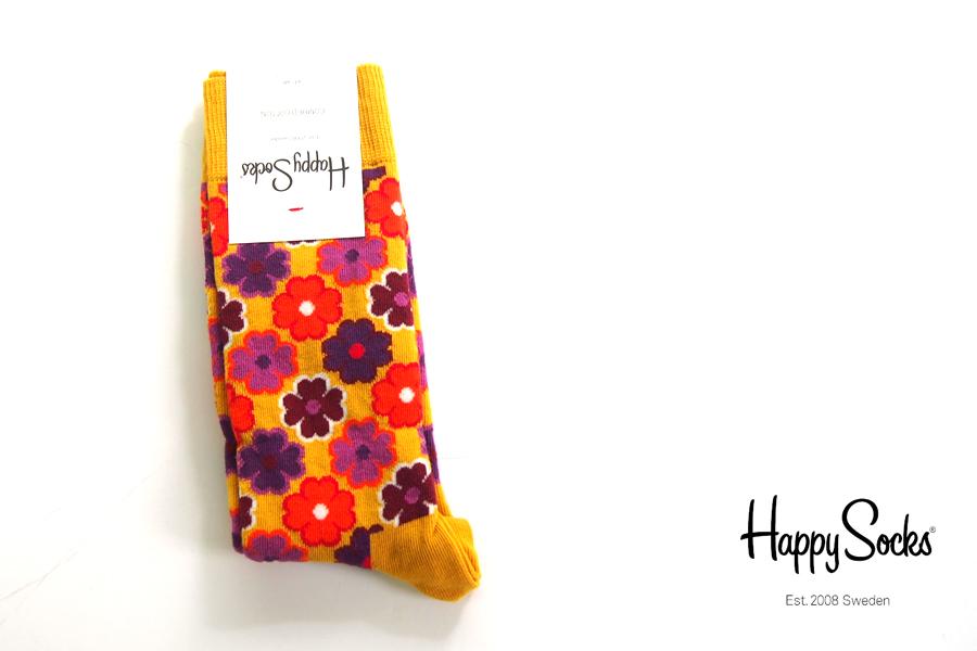 ハッピーソックス happy socks クルー丈カジュアルソックス フラワー柄 FLOWER POWER 10117015イメージ01