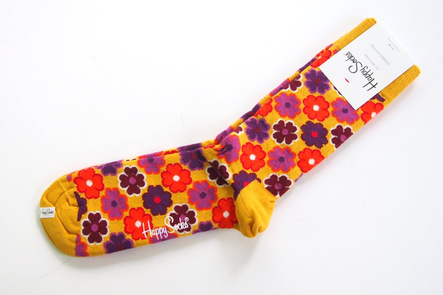 ハッピーソックス happy socks クルー丈カジュアルソックス フラワー柄 FLOWER POWER 10117015イメージ02