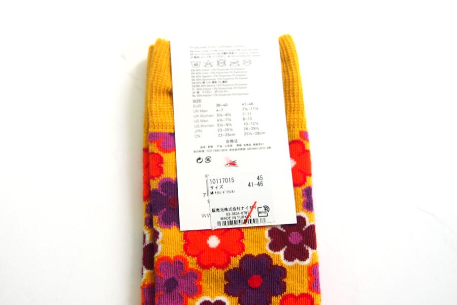 ハッピーソックス happy socks クルー丈カジュアルソックス フラワー柄 FLOWER POWER 10117015イメージ04