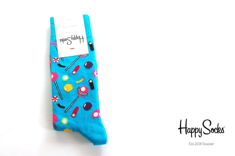 ハッピーソックス|happy socks|クルー丈カジュアルソックス|キャンディ柄|CANDY|10117020イメージ01