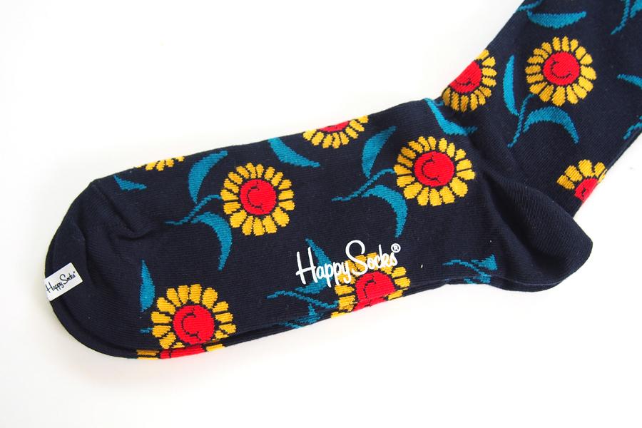ハッピーソックス|happy socks|クルー丈カジュアルソックス|ひまわり柄ソックス|SUN FLOWER|10117032イメージ03