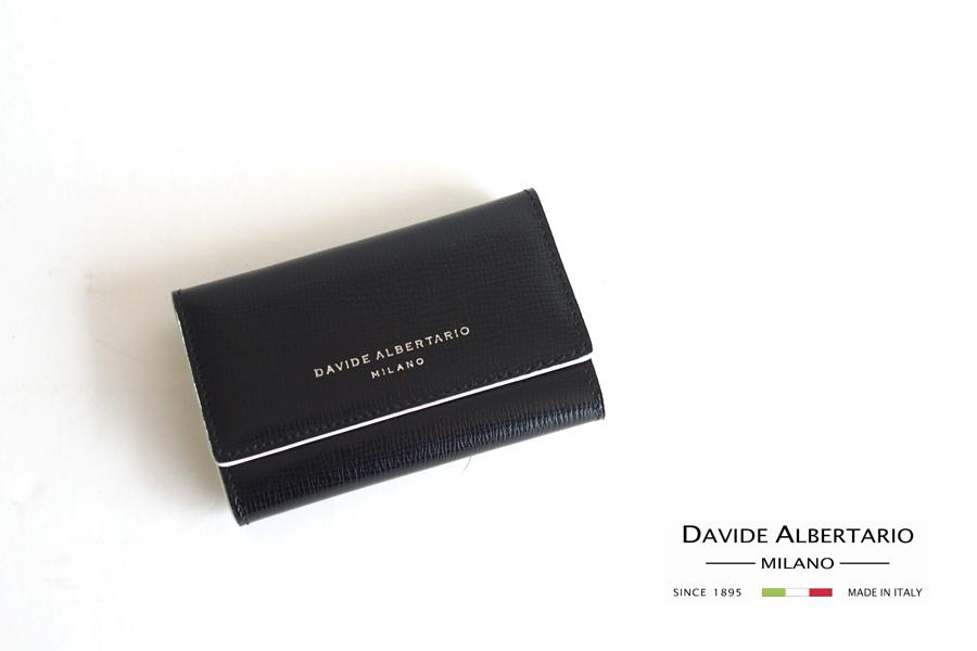 ダヴィデ アルベルタリオ |DAVIDE ALBERTARIO|グレインレザーキーケース|阪急別注|ブラックイメージ01