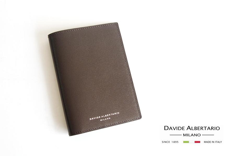 ダヴィデ アルベルタリオ  DAVIDE ALBERTARIO グレインレザーパスポートケース 阪急別注 トープイメージ01