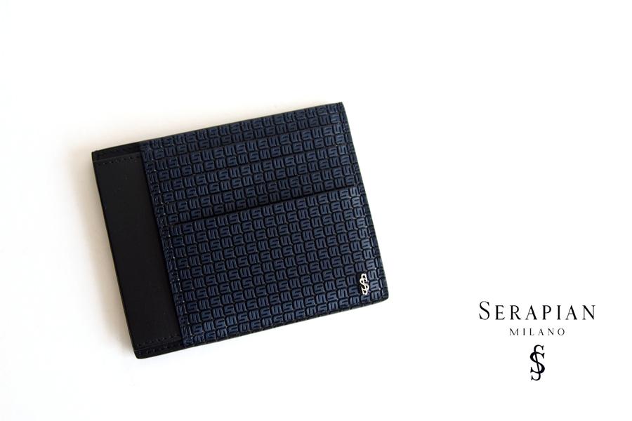 セラピアンミラノ Serapian  ステパンカードケース PVC型押し ネイビーイメージ01