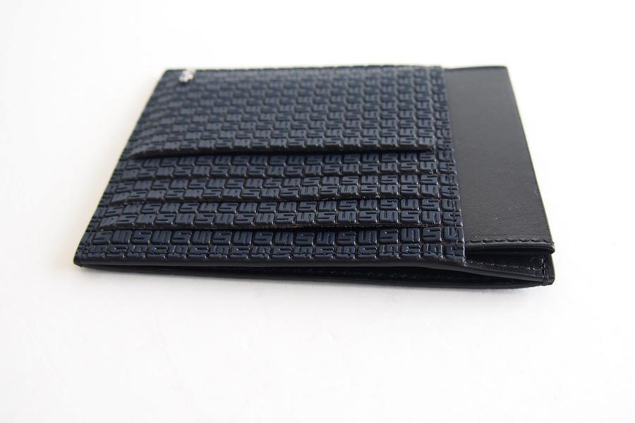 セラピアンミラノ Serapian  ステパンカードケース PVC型押し ネイビーイメージ03